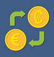 Currency exchange Euro and Colon vector image vector image