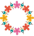 cute flowers frame vector image vector image