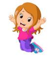 cute girl cartoon vector image vector image