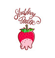 cute strawberry milk design vector image