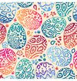 eastern sketch eggs seamless pattern vector image