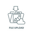 file upload line icon linear concept vector image vector image