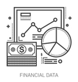 Financial data line icons vector image vector image