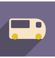 Flat with shadow icon and mobile applacation bus vector image vector image