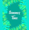 floral frame summer time vector image vector image