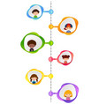 graph design with happy children vector image