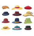 hats and headgears stylish summer male and vector image