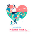 heart day concept of healthy people lifestyle vector image vector image