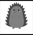 hedgehog urchin cute cartoon kawaii animal vector image