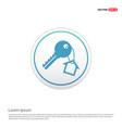 house key icon - white circle button vector image vector image