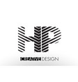 hp h p lines letter design with creative elegant vector image vector image