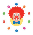 icon juggling clown vector image