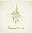 ketupat for ramadhan eid al fitri vector image vector image