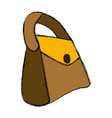 leather fashion purse vector image