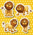 Lion set vector image vector image