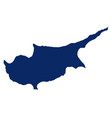 map cyprus in blue colour vector image vector image
