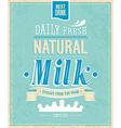 natural milk vector image vector image