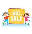 New Year Big sale background with kids vector image vector image