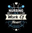 nurse quote design vector image vector image