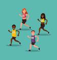 participants international marathon vector image vector image