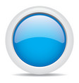 popular blue color web button 3d vector image vector image
