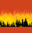 poster on theme forest fires and vector image