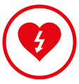 power love heart rounded icon vector image vector image