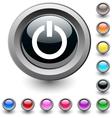 Power round button vector image