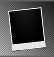 retro photo frame with shadow on transparent vector image vector image
