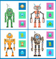 robot set images collection vector image vector image