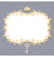 royal frame vector image