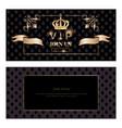 royal vip invitation set vector image vector image