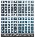 set 100 universal flat modern icons vector image vector image