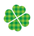 shamrock four leaf clover icon green lumberjack vector image