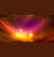 shiny neon space background vector image
