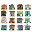 Shops or markets in exterior view vector image vector image