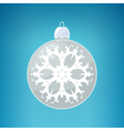 Silver Ball with Snowflake vector image vector image