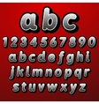 Stock font pointillism Letters and Numbers vector image vector image