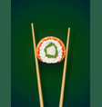 sushi rolls with chopstick vector image vector image