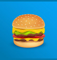 tasty classic burger vector image vector image