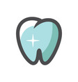 tooth with shine icon cartoon vector image