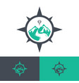 travel logos vector image vector image
