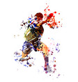 watercolor table tennis player vector image
