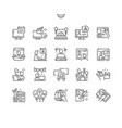 webmasters day perfect thin line icons vector image