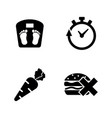 weight loss diet simple related icons vector image vector image