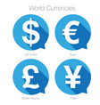 world currencies sign symbol set vector image vector image