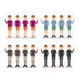 young men fashion modern flat avatar vector image