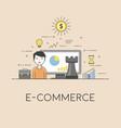 e-commerce strategy digital technologies charts vector image