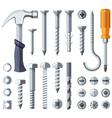 Repair tools flat icons set vector image