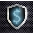 metal shield with the image of dollar vector image
